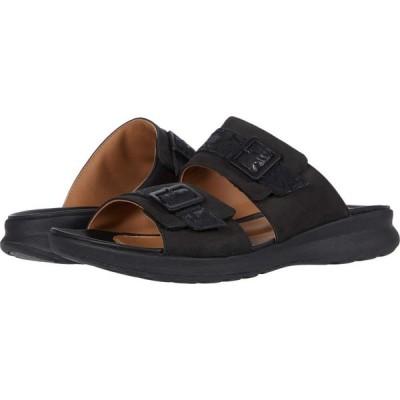 クラークス Clarks レディース サンダル・ミュール シューズ・靴 Un Adorn Slide Black Nubuck/Leather Combi