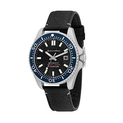 SPINNAKER Men's Tesei 43mm Black Leather Band Automatic Watch SP-5061-01 並行輸入品