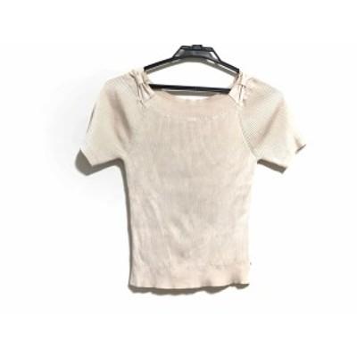 トッカ TOCCA 半袖セーター サイズF レディース アイボリー リボン【中古】20200701