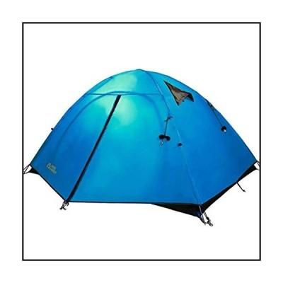 【新品】MYERZI Hiking Outdoor Double Double and Three Seasons Windproof and Rainproof Aluminum Pole Tent Camping Tents並行輸入品
