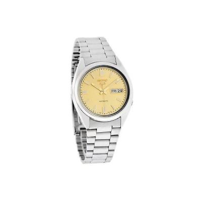 腕時計 セイコー Seiko 5 オートマチック メンズ シャンパン ダイヤル Day/Date ステンレス スチール 腕時計 SNXS81K