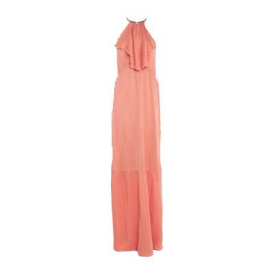INTROPIA ロングワンピース&ドレス コーラル 38 シルク 55% / レーヨン 45% ロングワンピース&ドレス