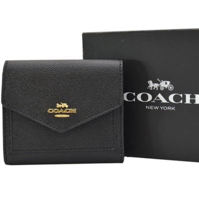 コーチ COACH 財布 レザーx金属素材 ブラックxゴールドカラー 定番人気