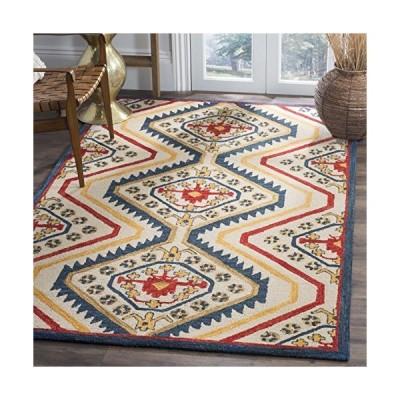 Safavieh Aspen Collection APN701A Handmade Wool Area Rug, 3' x 5', Ivory/Multi並行輸入品