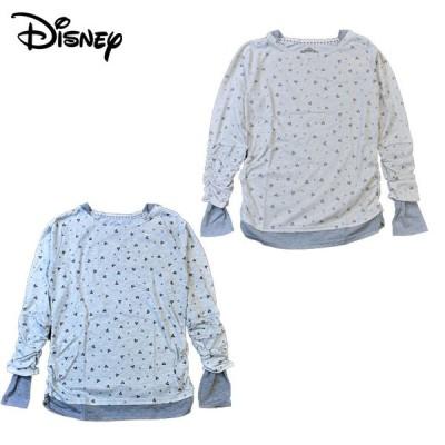 Disneyディズニー 重ね着風Tシャツ(M・Lサイズ)レディース
