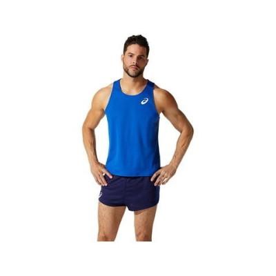 アシックス プラクティスランニングシャツ(ASICS BLUE・サイズ:M) asics メンズ 2091A420-402-M 【返品種別A】