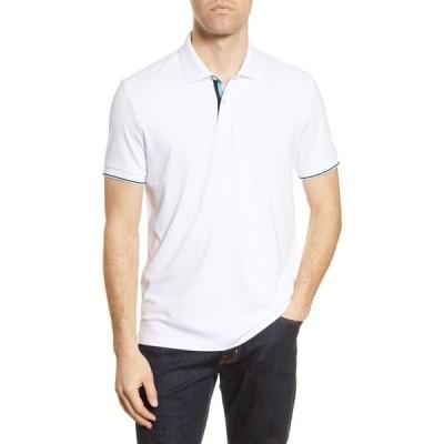 ヒューゴ ボス BOSS メンズ ポロシャツ 半袖 トップス Parlay Short Sleeve Polo Shirt White