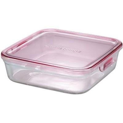 iwaki イワキ  パック&レンジBOX(大) ピンク K3248N-P  [保存容器 1.2L AGCテクノグラス 耐熱ガラス 電子レンジ対応]