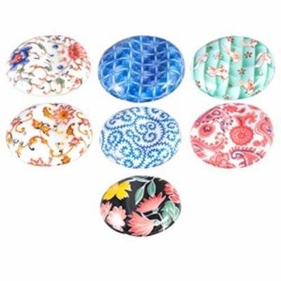 NUOLUX 箸置き 箸枕 箸台 セラミック製 7個セット 和風 和食器 卓上小物 かわいい 箸ホルダー A