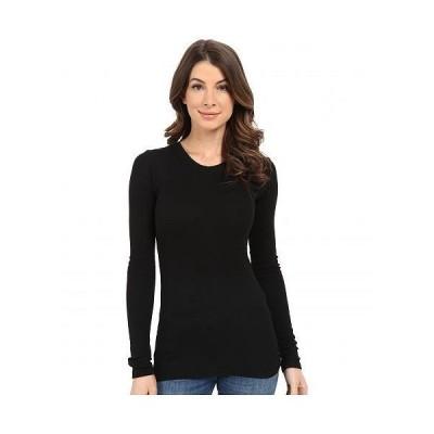 LAmade エルエーメイド レディース 女性用 ファッション Tシャツ Long Sleeve Crewneck Thermal Top - Black