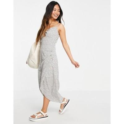 フレンチコネクション レディース ワンピース トップス French Connection floral ditsy midaxi dress in white