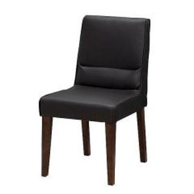 ダイニングチェア 椅子 天然木フレーム ボンデッドレザー 座面高47cm 同色2脚セット ブラウン(  チェアー パーソナルチェア クラシック チェア イス ソファ ソファチェア チェアソファ ソファチェアー チェアーソファ ダイニングチェアー レザー風 )