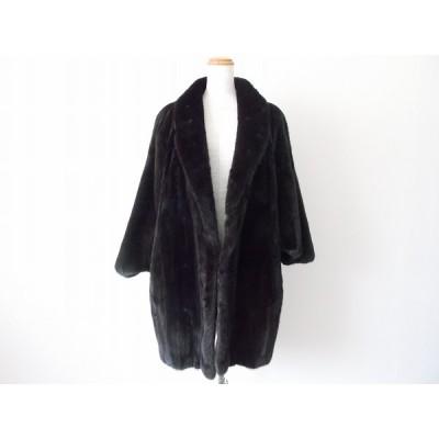 #wnc サガミンク SAGA ブラックグラマ BLACK GLAMA 毛皮コート 黒系 着物用 レディース [625381]