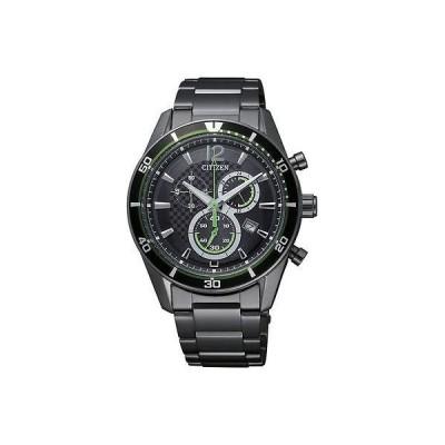 腕時計 シチズン Rare Citizen エコドライブ ブラック Ion 100m スポーツ クロノグラフ 腕時計 AT2115-52E