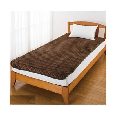 フランネル敷きパッド 97957 ブラウン100×200cm ふんわり柔らかな起毛した生地表面。 保温・保湿性に加え、軽い着心地