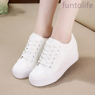 インヒールスニーカーレディースシンプルおしゃれ可愛いかわいいかかとアップ白黒大人カジュアルファッションシューズ靴春靴秋靴冬靴