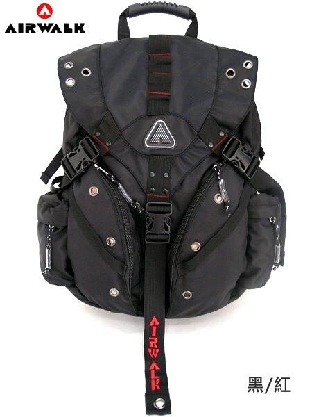 BB902【AIRWALK】≡ 美國潮流正品 ≡ 街頭男孩3插扣實用後背包〈紅色〉