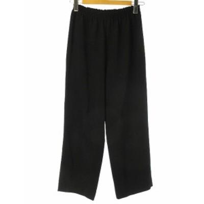 【中古】パンツ ブラック 黒 透け感 ボトムス レディース