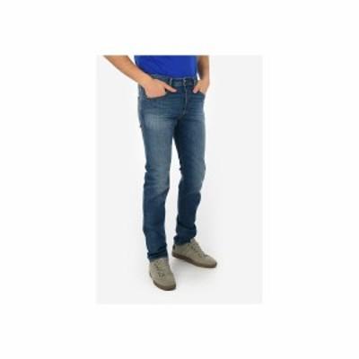DIESEL/ディーゼル Blue メンズ 18cm Stone Washed BUSTER Slim Fit Jeans L34 dk