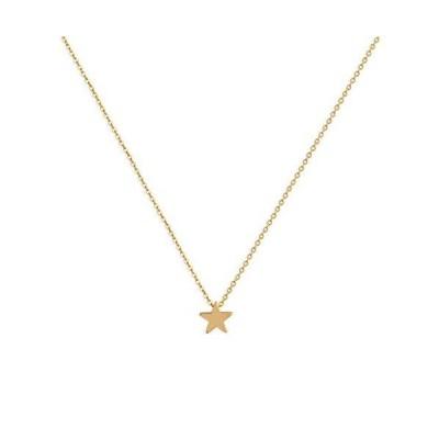 925スターリングシルバームーンペンダントネックレス、姉妹ネックレス、小さなソリッドシルバースターネックレス女性用。 ゴールド