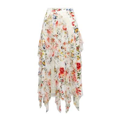 アリス・アンド・オリビア ALICE + OLIVIA 7分丈スカート アイボリー 0 シルク 100% / ナイロン 7分丈スカート