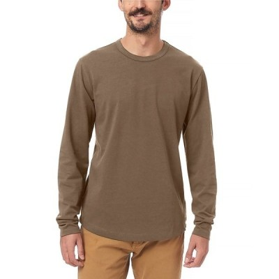 オルタナティヴ アパレル Tシャツ トップス メンズ Men's Hemp-Blend Long Sleeve T-shirt Oak