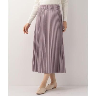 【ミューズ リファインド クローズ】 リバーシブルプリーツロングスカート レディース パープル M MEW'S REFINED CLOTHES