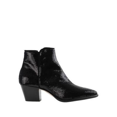 ANNA F. ショートブーツ ブラック 36 紡績繊維 ショートブーツ