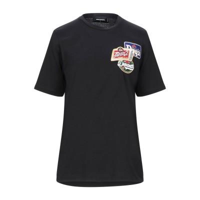 ディースクエアード DSQUARED2 T シャツ ブラック L コットン 100% T シャツ