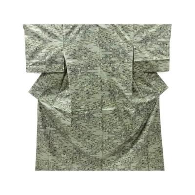 宗sou 松竹梅模様織り出し本場泥大島紬着物(5マルキ)【リサイクル】【着】