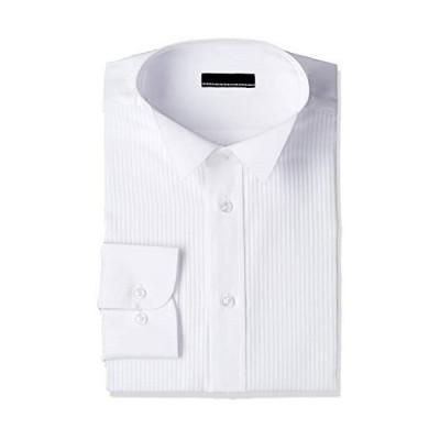 [アトリエサンロクゴ] フォーマル ワイシャツ 長袖 形態安定 冠婚葬祭 ダブルカフス タキシード sun-ml-wd-1310 ホワイトw