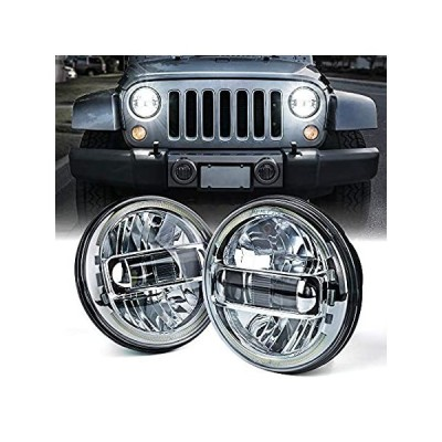 Xprite 7 Inch CREE LED Headlights DOT Approved Compatible with Jeep Wrangle好評販売中