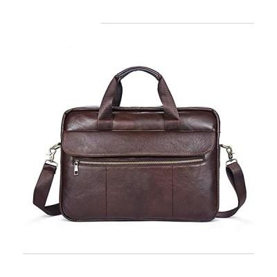 YZ-Hb Leather Shoulder Bag Retro Office Business Briefcase College Large Capacity Messenger Bag For Men (Coffee) 並行輸入品
