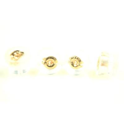 K18PGピンクゴールド ダブルロックフィットピアスキャッチ ダブルロックフィット式 ご注文数量1で2ペア分4個販売 18金 ピンクゴールド
