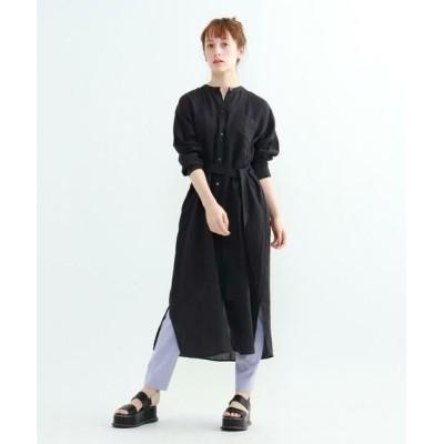 INDIVI/インディヴィ ラミーボイル羽織シャツワンピース ブラック(019) 34(S)
