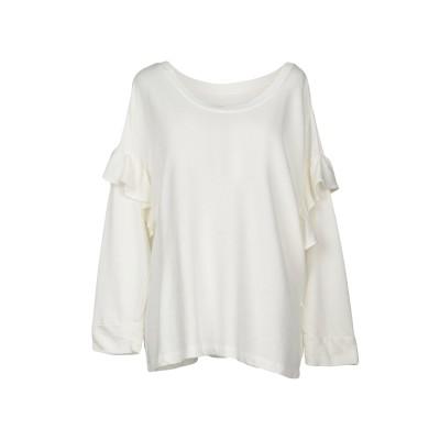 カレントエリオット CURRENT/ELLIOTT スウェットシャツ アイボリー 1 コットン 100% スウェットシャツ