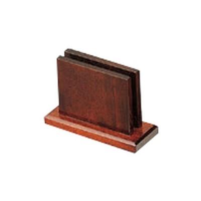 民芸雑器 和食器 / メニュースタンド (ハイブラウン) 寸法:13.5 x 5 x 9.4(巾1)cm