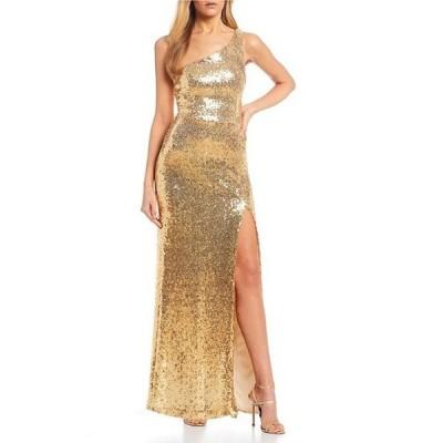 ビーダーリン レディース ワンピース トップス One Shoulder Sequin Long Dress