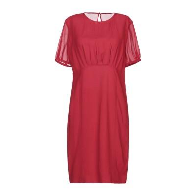 SAINT LAURENT ミニワンピース&ドレス レッド 42 アセテート 57% / レーヨン 43% ミニワンピース&ドレス