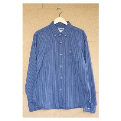 PHERROW'S フェローズ ヘザーストライプBDシャツ XL NVY 17S-PBD2-ST レプリカ 古着