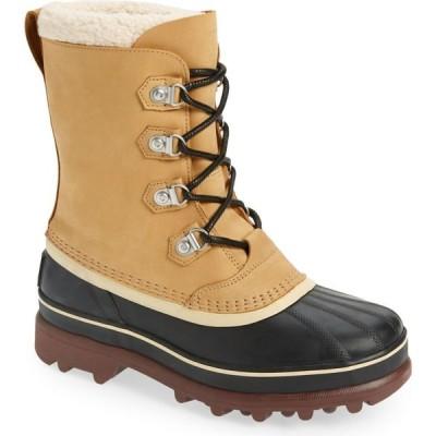 ソレル SOREL メンズ ブーツ シューズ・靴 Caribou Stack Waterproof Snow Boot Buff