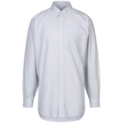 ブルックス ブラザーズ BROOKS BROTHERS シャツ ライトグレー 15 コットン 100% シャツ