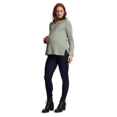 エヴァリーグレー レディース ニット・セーター アウター Andria Maternity Nursing Sweater