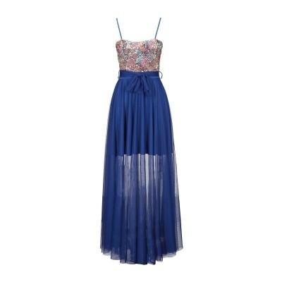 VANESSA SCOTT ロングワンピース&ドレス ブルー S ポリエステル 95% / 指定外繊維(その他伸縮性繊維) 5% ロングワンピース&
