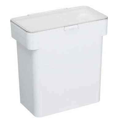 密閉 袋ごと米びつ タワー 5kg計量カップ付 WH 米びつ 5kg おしゃれ ライスストッカー スリム 米入れ 白