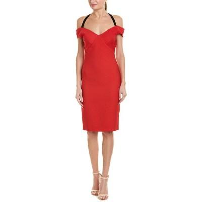 イーガルアズロベル ワンピース トップス レディース Yigal Azrouel Off-the-Shoulder Sheath Dress cardinal red
