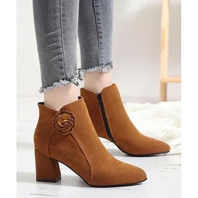 STYLEBLOCK / サイドジップスエード調チャンキーヒールショートブーツ WOMEN シューズ > ブーツ