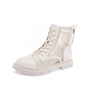 レディース ブーツ ショートブーツ レースアップ 編み上げブーツ 靴 ブーツサンダル 夏 サマーブーツ ブーツサンダル  ショートブーツ  歩きやすい  靴