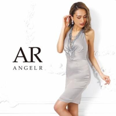 AngelR エンジェルアール ビーズネックレス付きホルターネックタイトミニドレス ミニドレス キャバ ドレス キャバドレス タイト ノースリ