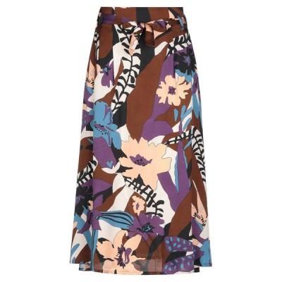GIGUE 七分丈スカート ファッション  レディースファッション  ボトムス  スカート  ロング、マキシ丈スカート ブラウン